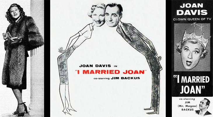 joan davis, jim backus, american actors, classic television shows, tv sitcoms, i married joan, 1950s television series, judge bradley stevens, joan stevens,