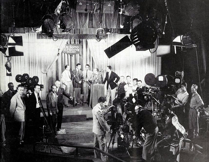 you bet your life, classic tv, television series, quiz shows, 1950s tv shows, groucho marx, american actor, tv announcer, george fenneman, filming, cinematographers