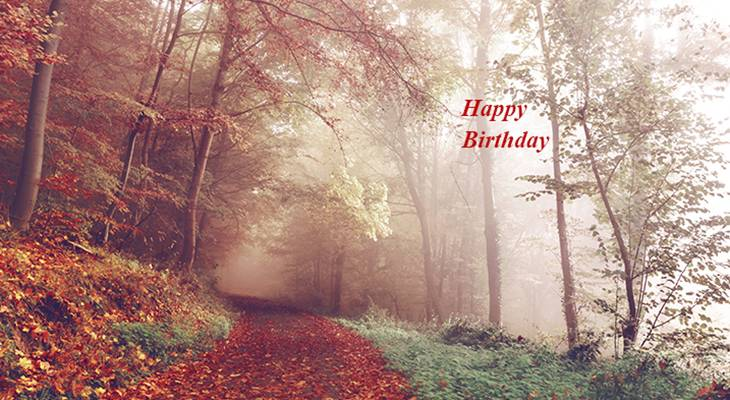 happy birthday wishes, birthday cards, birthday card pictures, famous birthdays, autumn leaves, fall colors, red, forest, orange