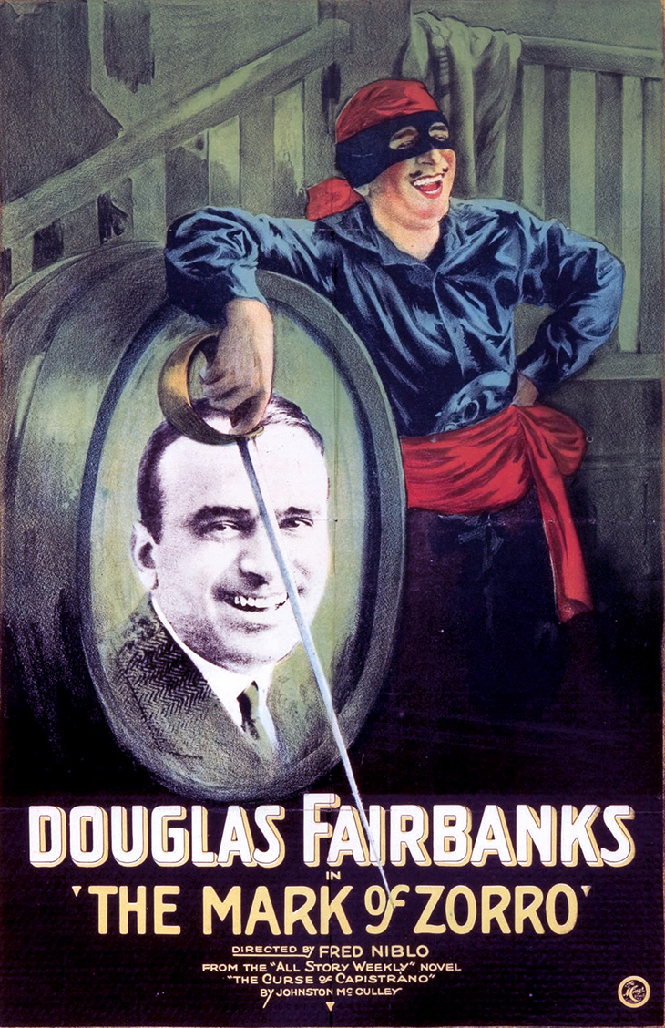 the mark of zorro, 1920, movies, douglas fairbanks sr, poster