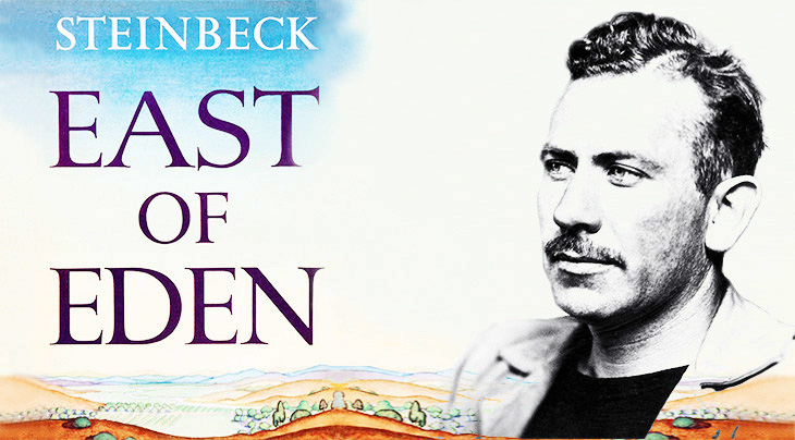john steinbeck, american writer, novelist, author, east of eden, book jacket, dust cover, novels, modern classics