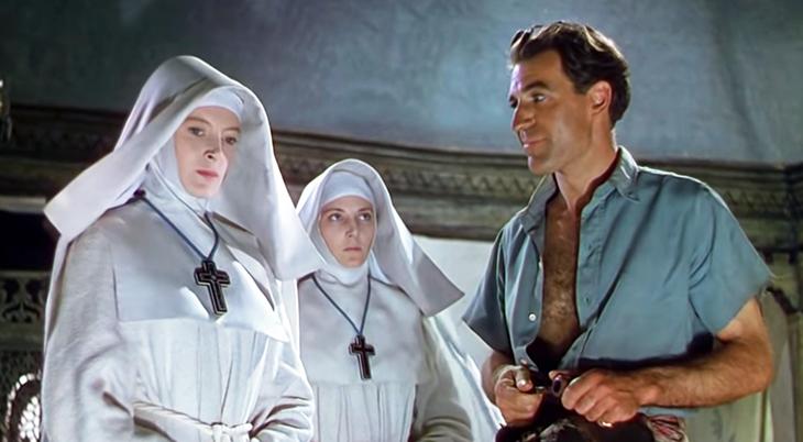 1947 movie, classic films, black narcissus, british actress, movie stars, deborah kerr, kathleen byron, nuns, english actor, david farrar