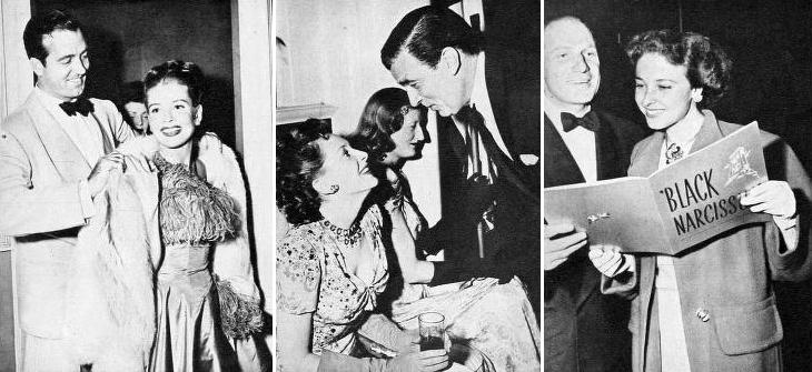 1947 movie, classic films, black narcissus, film premiere, british movies, actress, movie stars, deborah kerr, laraine day, gloria de haven, leo durocher, john payne, actors, walter pidgeon