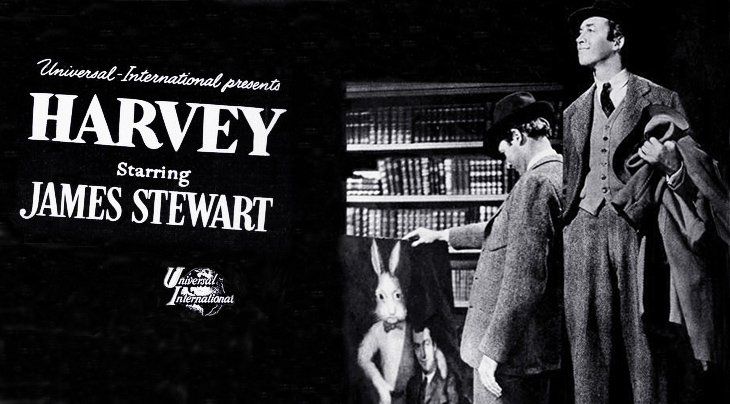 1950, classic movies, comedy films, harvey, american actors, james stewart, elwood p dowd, invisible rabbit, pooka, actress, josephine hull,