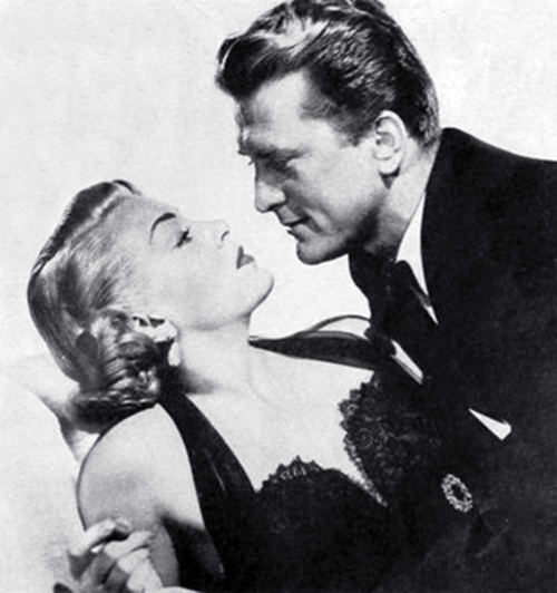 1952, classic movie, the bad and the beautiful, american actors, kirk douglas, lana turner, film stars,