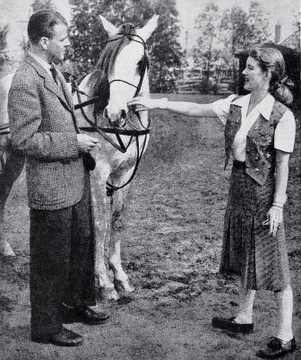 bette davis, american actress, film star, 1943, arthur farnsworth, husband, new hampshire, horse