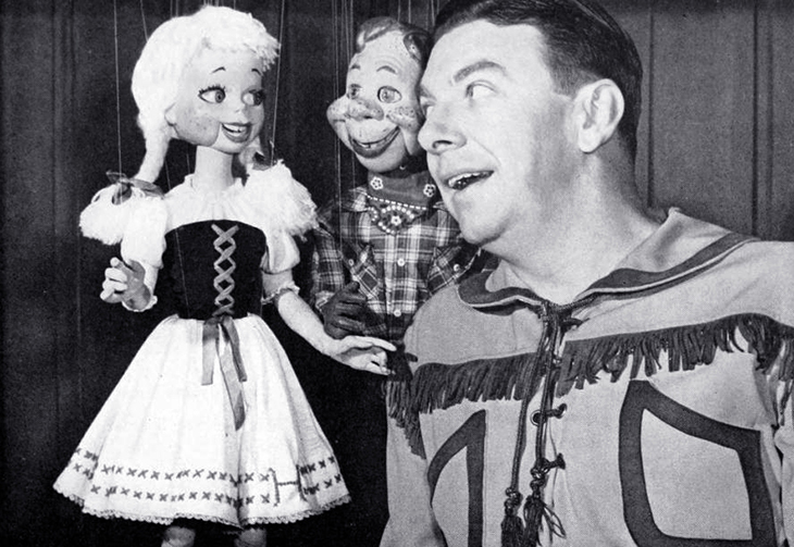howdy doody, heidi doody, puppets, marionettes, childrens television series, childrens programming, 1950s, tv shows, american actors, musician, singer, buffalo bob smith, nbc,