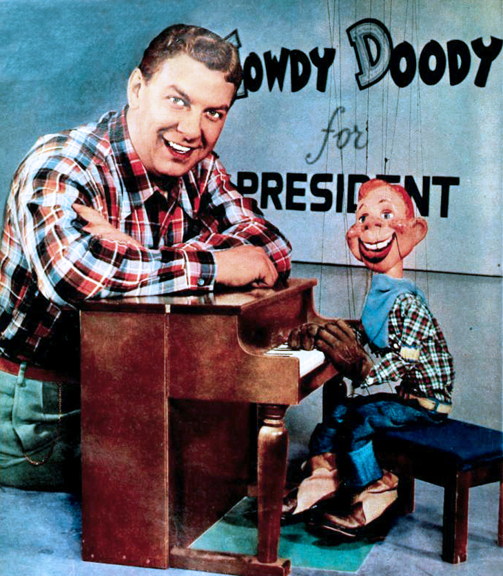 howdy doody, buffalo bob smith, puppet show, television series, childrens tv programs, 1948, 1940s, 1950s, marionette