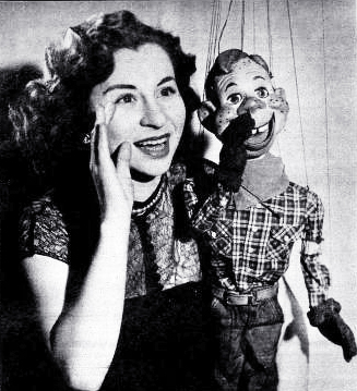 rhoda mann, american puppeteer, marionettes, howdy doody, television series, 1949, childrens tv shows,