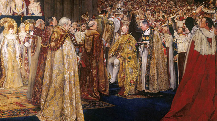 stone of scone, stone of destiny, jacobs pillow stone, tanist stone, coronation chair, king edwards chair, english monarch coronations, westminster abbey, king edward vii, 1902, edwin austin abbey