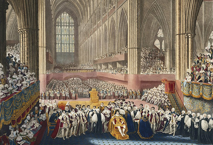 stone of scone, stone of destiny, jacobs pillow stone, tanist stone, coronation chair, king edwards chair, english monarch coronations, westminster abbey, king george iv, 1821