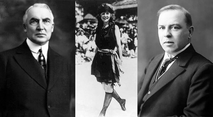 1921 politicians, american president, warren g harding, canadian prime minister, william lyon mackenzie king, first miss america, margaret gorman