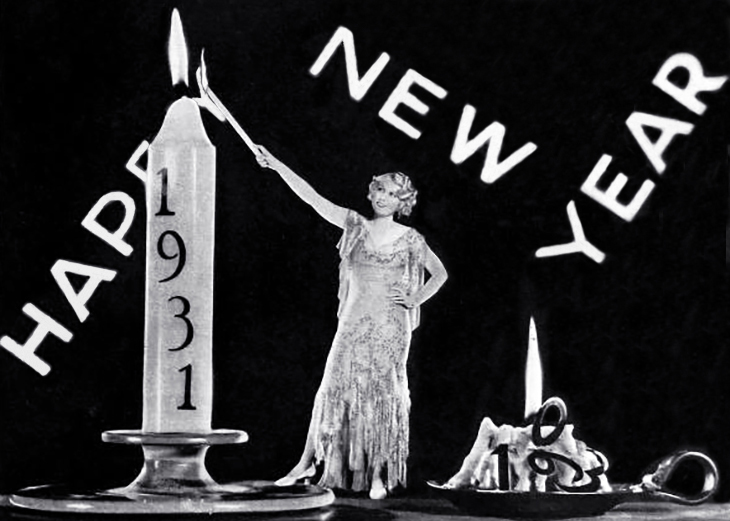 1931, january, happy new year, anita page, american actress, movie star, photographer, clarence sinclair bull, c s bull, candles