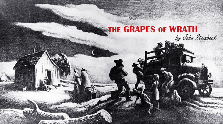 the grapes of wrath, 1940, classic movie, john steinbeck novels, illustration, artist, thomas hart benton