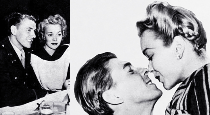 ronald reagan, american actor, movie stars, actress, jane wyman, celebrity couples, 1942