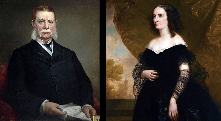 john jacob astor iii, new york city, millionaire, wealthy, financier, businessman, 1890, jacob hart lazarus portraits, charlotte augusta gibbe, mrs john jacob astor, 1860, thomas sully portraits