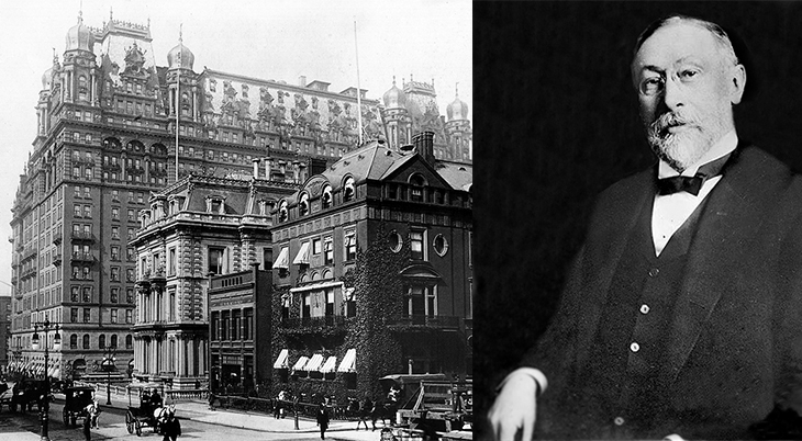 george boldt, hotelier, waldorf-astoria hotel, 338 fifth avenue, 1890s, new york city, manhattan, old buildings, historic sites, vintage, fifth avenue, 33rd street corner, 34th street corner, 350 fifth avenue, 1900s