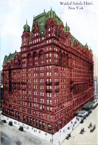 waldorf hotel, astoria hotel, waldorf astoria, 338 fifth avenue, 1890s, new york city, manhattan, old buildings, historic sites, vintage, fifth avenue, 33rd street corner, 34th street corner, 350 fifth avenue, red brick, 1915