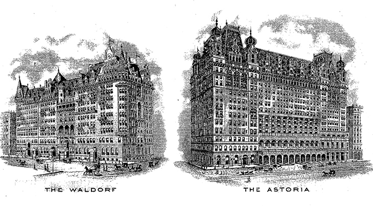 waldorf hotel, astoria hotel, waldorf astoria, 338 fifth avenue, 1890s, new york city, manhattan, old buildings, historic sites, vintage, fifth avenue, 33rd street corner, 34th street corner, 350 fifth avenue