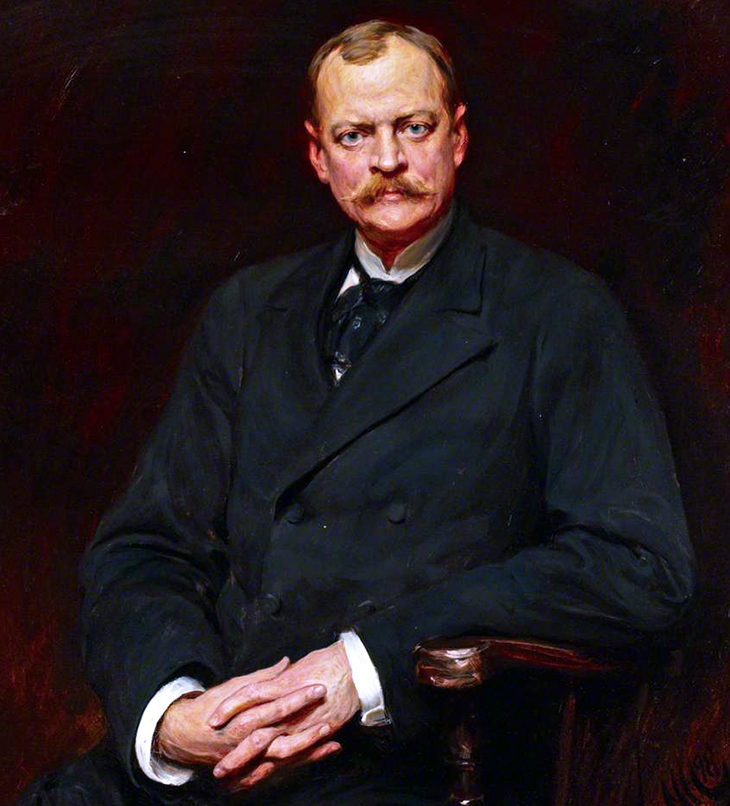 william waldorf astor, new york city, millionaire, wealthy, financier, businessman, politician, senator, 1880s, 1898, hubert von herkomer portrait, first viscount astor, 1st viscount astor