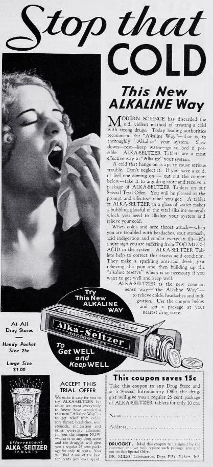 alka seltzer, 1952, advertising, advertisements, print ads,