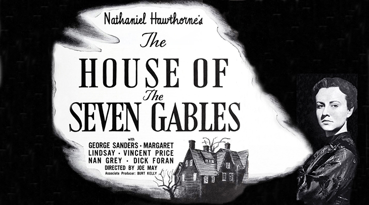 1940, february, classic movies, thrillers, gothic films, the house of the seven gables, american actors, vincent price, dick foran, actresses, margaret lindsay, nan grey, movie stars, gilbert emery,