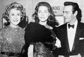 christopher plummer, canadian actor, arlene francis, american journalist, lauren bacall, actress, hollywood, party, 1960s