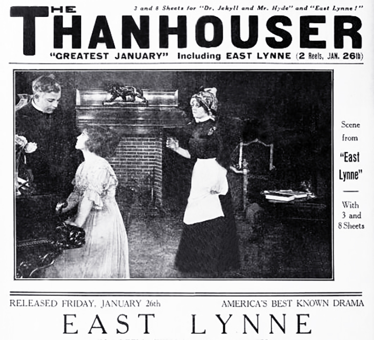east lynne, 1912, classic movies, thanhouse films, american actors, silent movies, film stars, marguerite snow,