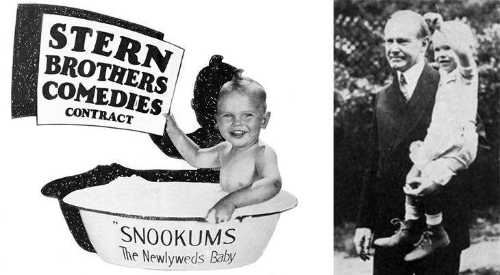 sunny jim mckeen, american actor, child actor, silent films, movie stars, baby snookums, newlyweds films, illustrations, universal, movie ads, film shorts, stern brothers, president coolidge, calvin coolidlge, 1926, 1927, universal