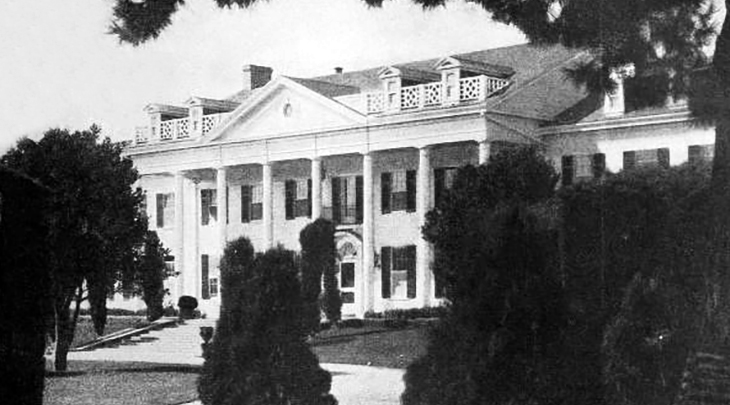 thomas h ince, film studio, culver city, silent movies, 1923, 1920s movie studio, administration building, southern style, colonial, architecture, motion picture studio