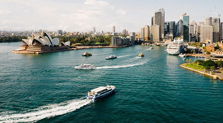 cruise, passenger ship, travel, vacation, ocean, water, boats, explore, destination, sydney, australia, harbour, architecture,tour,