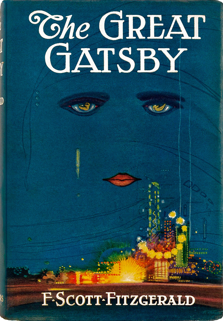 francisco coradol-cougat, mingall, cuban, spanish artist, francis cugat, set designer, artist, paintings, dust jacket cover, 1925, the great gatsby, f scott fitzgerald