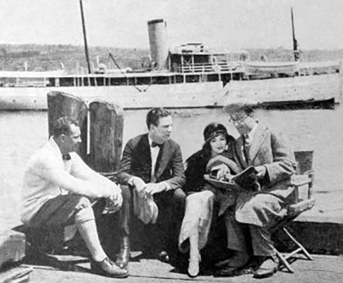 thomas h ince, american filmmaker, movie producer, director, silent films, 1923, actors, thomas meighan, actress, movie stars, lila lee, ed wynn, steam yacht
