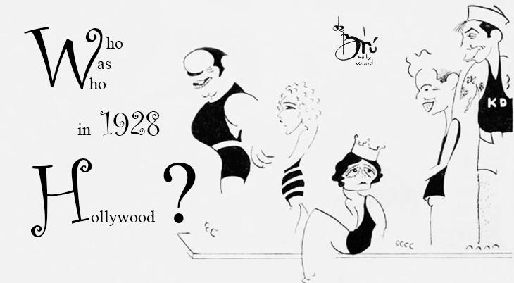 xavier cugat, cuban artist, spanish, de bru, mingall, caricaturist, caricatures, american bandleader, film stars, douglas fairbanks, pola negri, mary pickford, charlie chaplin, karl dane, whos who in hollywood, 1928