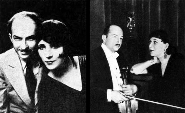 xavier cugat, cuban artist, spanish, de bru, mingall, caricaturist, caricatures, american bandleader, 1930, 1933, carmen castillo, mexican actress, singer, film star, movies,
