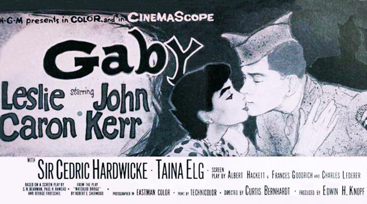 gaby, 1956, movies, world war two, wwii, leslie caron films, john kerr, waterloo bridge, remake, cedrick hardwick, scott marlowe, james best, ruta lee,