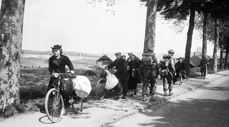 germany invades, france, belgium, netherlands, flanders, german invasion, world war two, may, 1940, battle of france, british troops, brussels, belgain refugees,