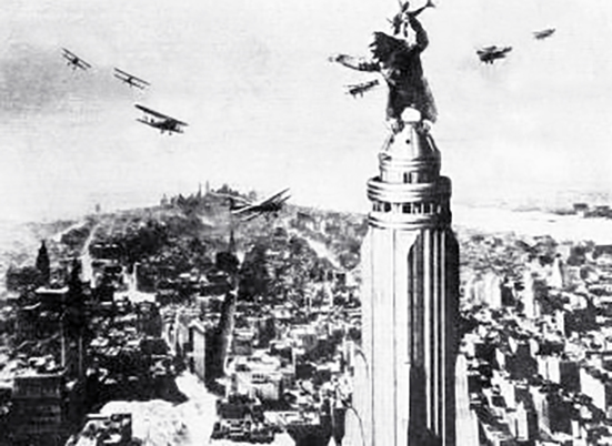 empire state building, manhattan, 350 fifth avenue, new york city, worlds tallest building, iconic, art deco, skyscraper, office tower, city lights, lit up, 1933, movies, classic films, king kong, airplanes,