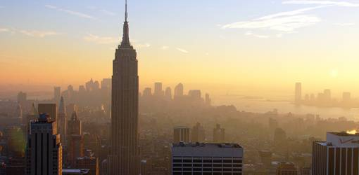 empire state building, manhattan, 350 fifth avenue, new york city, worlds tallest building, iconic, art deco, skyscraper, office tower, 2005, sunset, sunrise