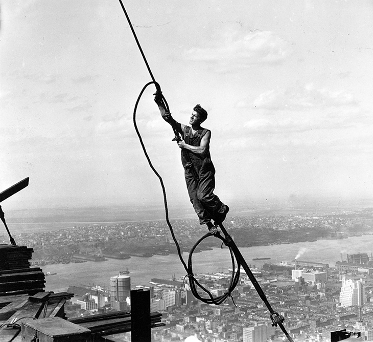 empire state building, manhattan, 350 fifth avenue, new york city, worlds tallest building, iconic, art deco, skyscraper, office tower, city lights, lit up, 1930, construction worker, icarus,