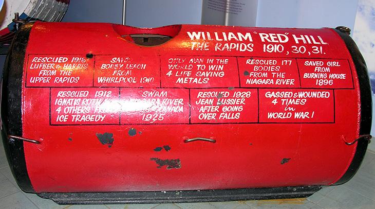 william red hill, william thomas hill, canadian hero, wwi, decorated veteran, bravery, medals, life saver, daredevil, stunts, stuntman, niagara river, ontario, niagara falls, barrels, 1930, may, steel barrel, niagara gorge, hill family, whirlpool rapids,