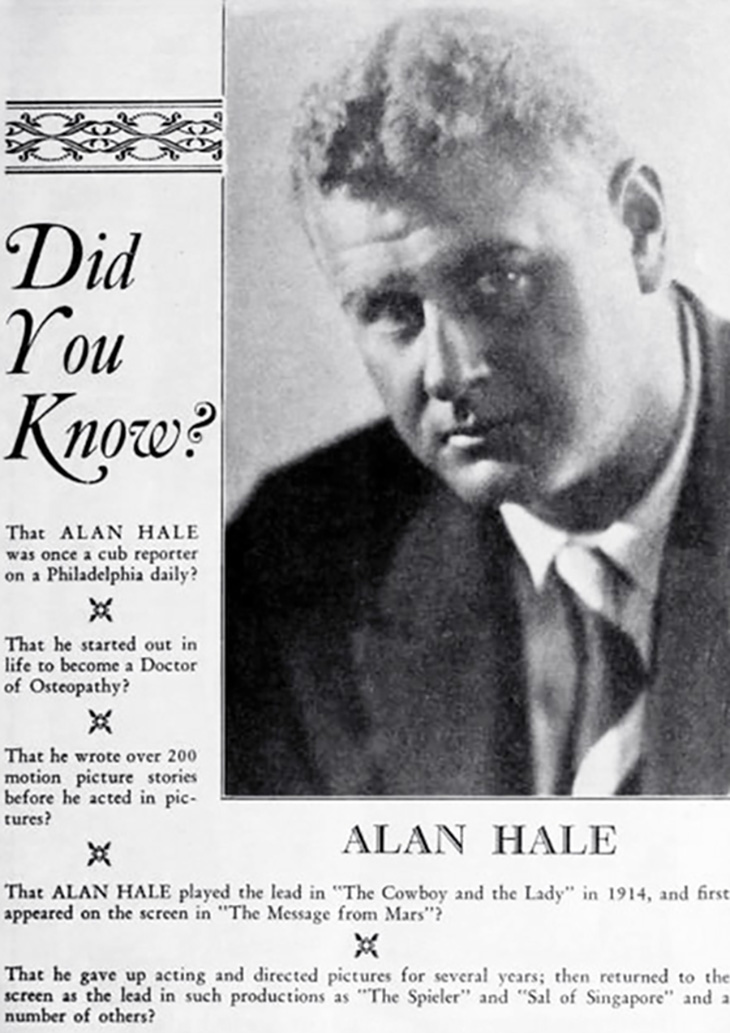 alan hale senior, famous, fathers, celebrity, dads, family, hollywood, fathers day, ostopathy, director, writer, american actor, film star, silent movies, the americano, east lynne, film stars, actors, classic movies, robin hood,