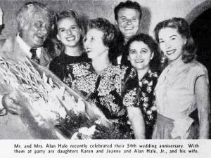 alan hale senior, famous, fathers, celebrity, dads, family, hollywood, fathers day, inventor, director, american actors, film stars, family, children, alan hale jr, karen hale wookey, wife, gretchen hartman, mother,