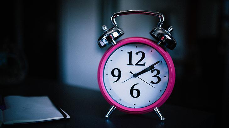 alarm clock, pink, night, sleep,