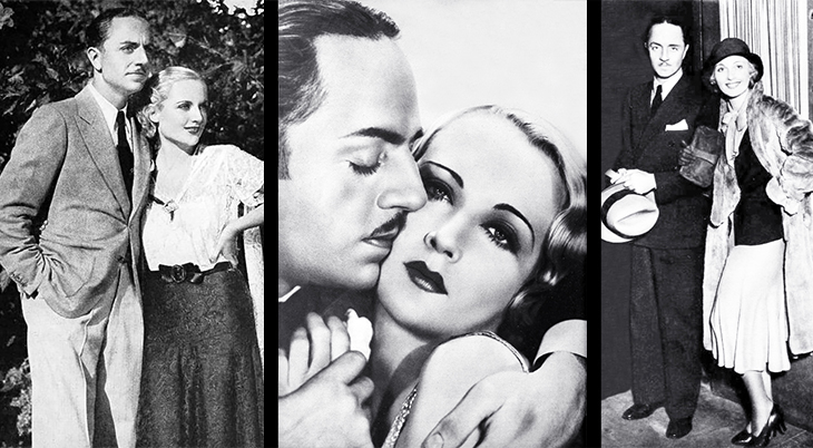 carole lombard, american actress, film star, 1930s, classic films, william powell, actor, wedding, celebrity couples, 1931, movies, man of the world, ladies man,