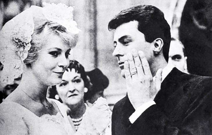 james darren, american singer, actor, movie star, evy norlund, danish model, miss denmark, 1960, celebrity wedding,