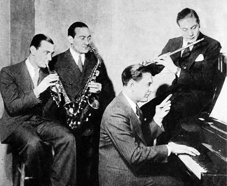 guy lombardo, canadian musician, bandleader, violinist, lombardo brothers, carmen lombardo, singer, victor lombardo, lebert lombardo, hit songs, 1931, there out to be a moonlight saving time, royal canadians orchestra