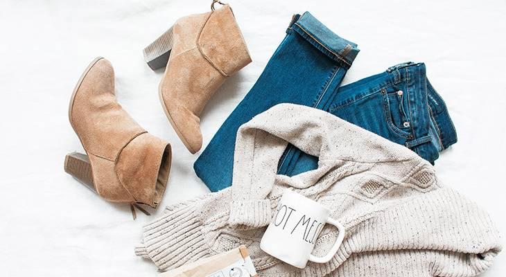 fashion, style, clothing, wardrobe, pieces, clothes, flattering shape, elongate legs, pants, denim, jeans, shoes, boots, sweater,
