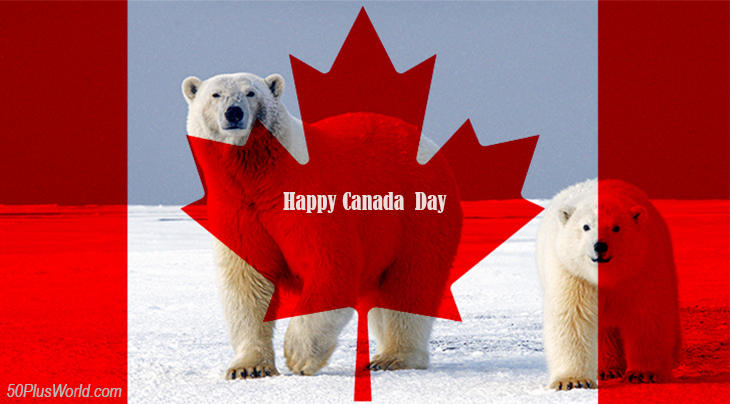canada day, dominion day, canadian, flag, provinces, nature, scenery, manitoba, northern canada, polar bears, wild animals, winter, snow, ice