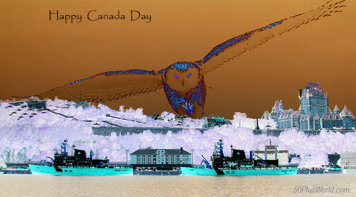 canada day, dominion day, canadian, provinces, flora, fauna, nature, scenery, wildlife, central canada, quebec city, chateau frontenac, boats, harbour, snowy owl, wild birds